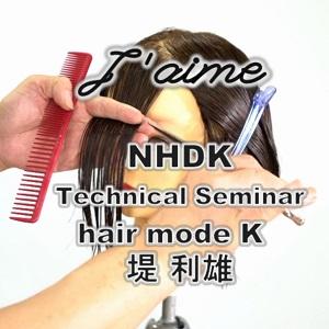 堤 利雄 hair mode K  カットテクニック ーNHDK2021 J'aime